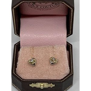 Juicy Couture Heart Stud Earrings